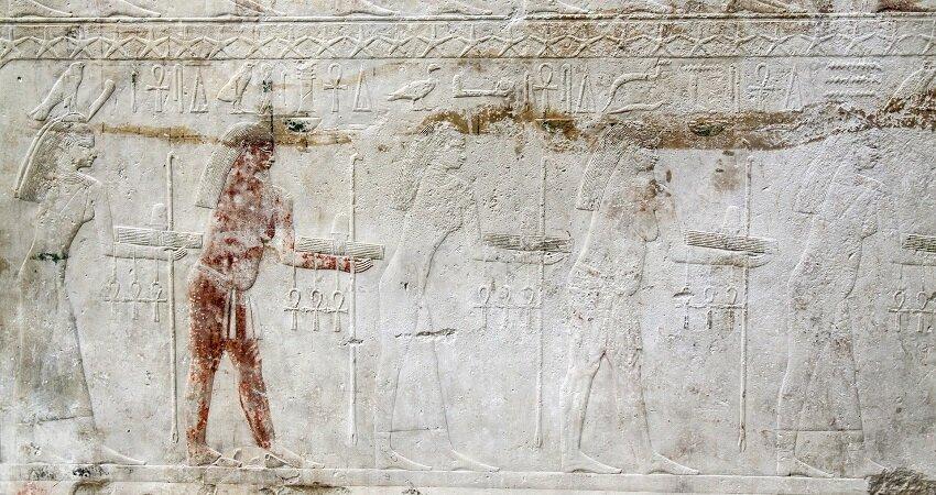 Historyczne hieroglify w Egipcie
